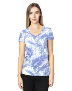 Palm Paradise Ladies' Ultimate V-Neck T-Shirt