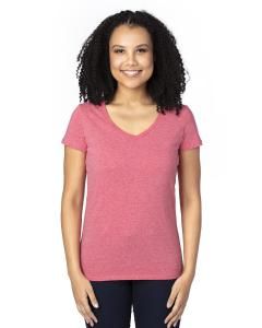 Red Heather Ladies' Ultimate V-Neck T-Shirt