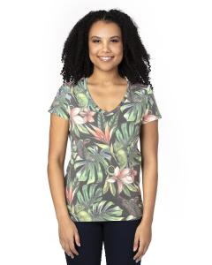 Tropical Jungle Ladies' Ultimate V-Neck T-Shirt