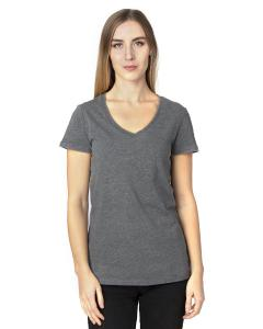 Charcoal Heather Ladies' Ultimate V-Neck T-Shirt