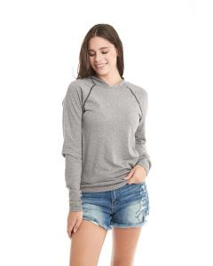 Heather Gray Unisex Mock Twist Raglan Hoody