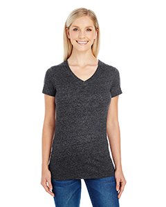 Black Triblend Ladies' Triblend Short-Sleeve V-Neck Tee