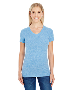 Royal Triblend Ladies' Triblend Short-Sleeve V-Neck Tee
