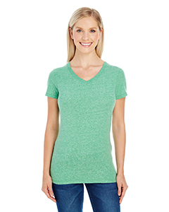 Green Triblend Ladies' Triblend Short-Sleeve V-Neck Tee