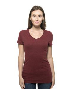 Card Blck Trblnd Ladies' Triblend Short-Sleeve V-Neck Tee