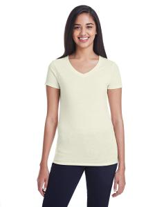 Cream Triblend Ladies' Triblend Short-Sleeve V-Neck Tee