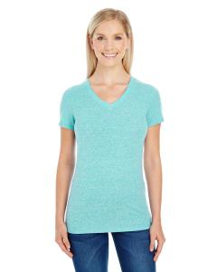 Mint Triblend Ladies' Triblend Short-Sleeve V-Neck Tee