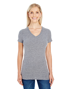 Grey Triblend Ladies' Triblend Short-Sleeve V-Neck Tee