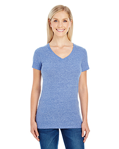 Navy Triblend Ladies' Triblend Short-Sleeve V-Neck Tee