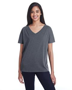 Charcoal Fleck Ladies' Triblend Fleck Short-Sleeve V-Neck T-Shirt