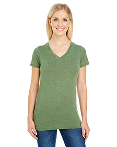 Vintage Grass Ladies' Vintage Dye Short-Sleeve V-Neck Tee