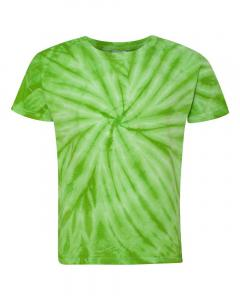 Lime Youth Cyclone Vat-Dyed Pinwheel Short Sleeve T-Shirt