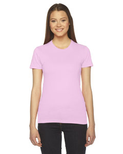 Pink Ladies' Fine Jersey Short-Sleeve T-Shirt
