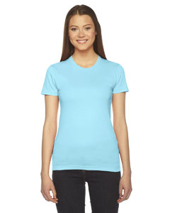 Aqua Ladies' Fine Jersey Short-Sleeve T-Shirt
