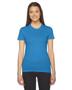 Teal Ladies' Fine Jersey Short-Sleeve T-Shirt
