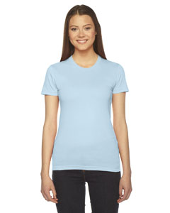 Light Blue Ladies' Fine Jersey Short-Sleeve T-Shirt