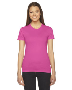 Fuchsia Ladies' Fine Jersey Short-Sleeve T-Shirt