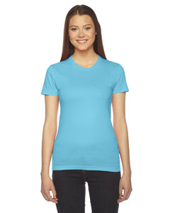 Turquoise Ladies' Fine Jersey Short-Sleeve T-Shirt