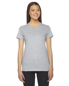Heather Grey Ladies' Fine Jersey Short-Sleeve T-Shirt