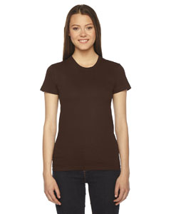 Brown Ladies' Fine Jersey Short-Sleeve T-Shirt