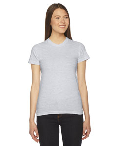 Ash Grey Ladies' Fine Jersey Short-Sleeve T-Shirt