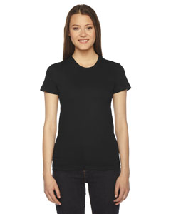 Black Ladies' Fine Jersey Short-Sleeve T-Shirt