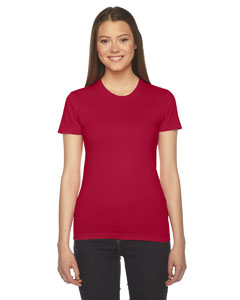 Red Ladies' Fine Jersey Short-Sleeve T-Shirt