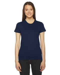 Navy Ladies' Fine Jersey Short-Sleeve T-Shirt