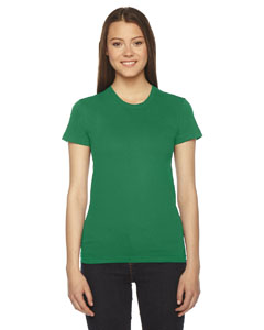 Kelly Green Ladies' Fine Jersey Short-Sleeve T-Shirt