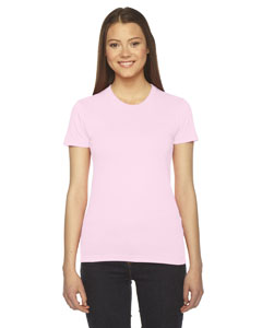 Light Pink Ladies' Fine Jersey Short-Sleeve T-Shirt