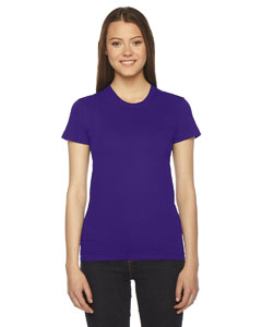 Purple Ladies' Fine Jersey Short-Sleeve T-Shirt
