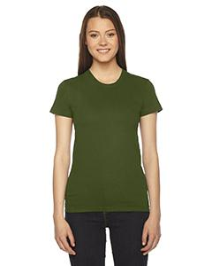 Olive Ladies Fine Jersey Short-Sleeve T-Shirt