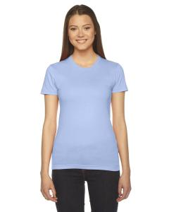 Baby Blue Ladies Fine Jersey Short-Sleeve T-Shirt