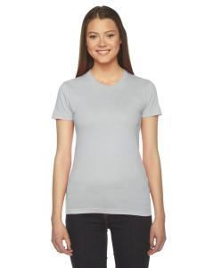 New Silver Ladies Fine Jersey Short-Sleeve T-Shirt