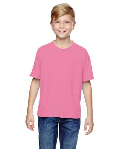 Neon Pink Youth 5.3 oz., 100% Polyester SPORT with Moisture-Wicking T-Shirt