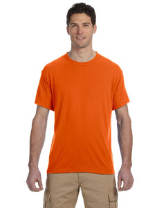 Safety Orange 5.3 oz., 100% Polyester SPORT with Moisture-Wicking T-Shirt