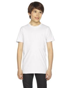 White Youth Fine Jersey Short-Sleeve T-Shirt