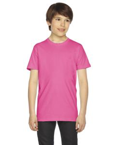 Fuchsia Youth Fine Jersey Short-Sleeve T-Shirt