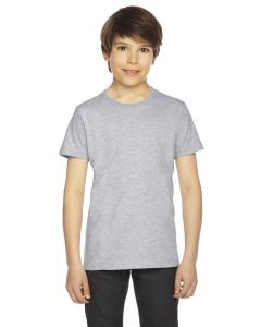 Heather Grey Youth Fine Jersey Short-Sleeve T-Shirt
