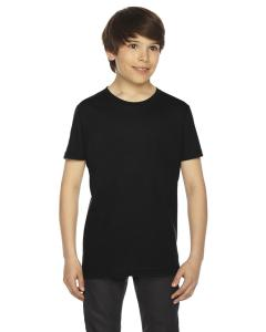 Black Youth Fine Jersey Short-Sleeve T-Shirt