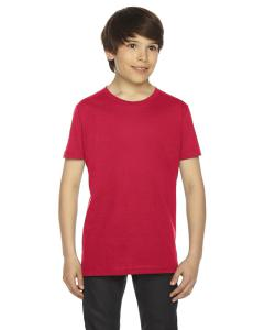 Red Youth Fine Jersey Short-Sleeve T-Shirt