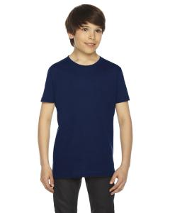 Navy Youth Fine Jersey Short-Sleeve T-Shirt