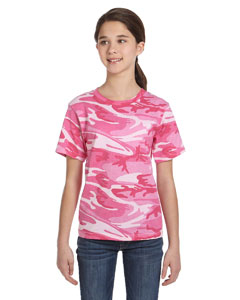 Pink Woodland Youth Camouflage T-Shirt