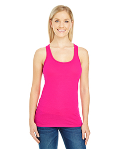 Active Pink Ladies' Spandex Performance Racer Tank