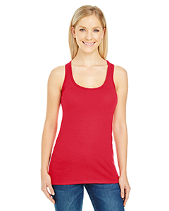 Active Red Ladies' Spandex Performance Racer Tank