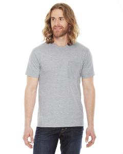 Heather Grey Unisex Fine Jersey Pocket Short-Sleeve T-Shirt