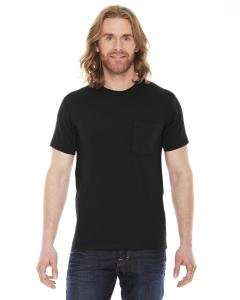 Black Unisex Fine Jersey Pocket Short-Sleeve T-Shirt