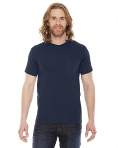 Navy Unisex Fine Jersey Pocket Short-Sleeve T-Shirt