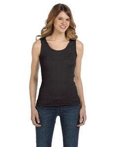 Smoke Ladies' 1x1 Baby Rib Tank