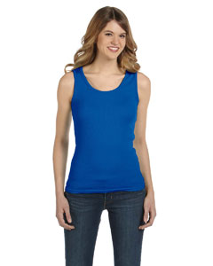 Royal Blue Ladies' 1x1 Baby Rib Tank